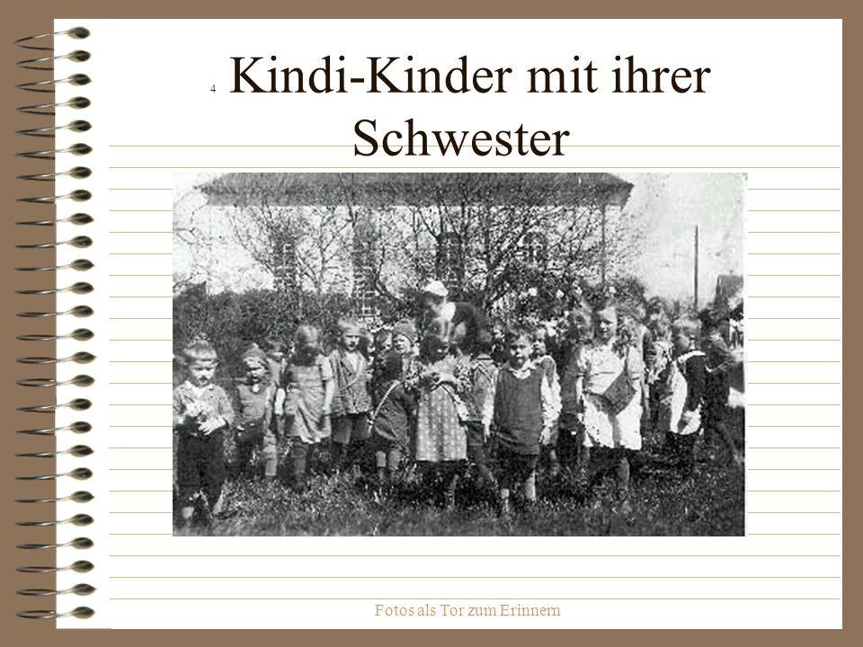 4 Kindi-Kinder mit ihrer Schwester