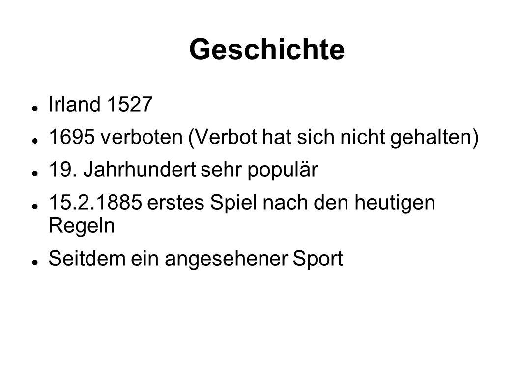 Geschichte Irland 1527 1695 verboten (Verbot hat sich nicht gehalten)