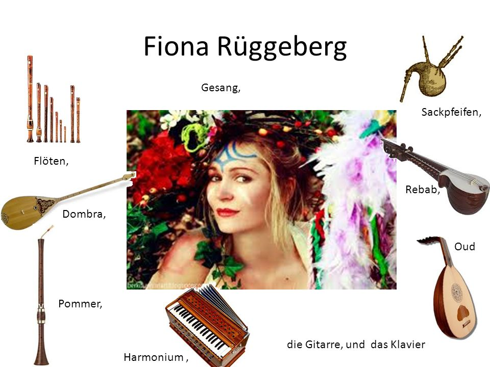 Fiona Rüggeberg Gesang, Sackpfeifen, Flöten, Rebab, Dombra, Oud