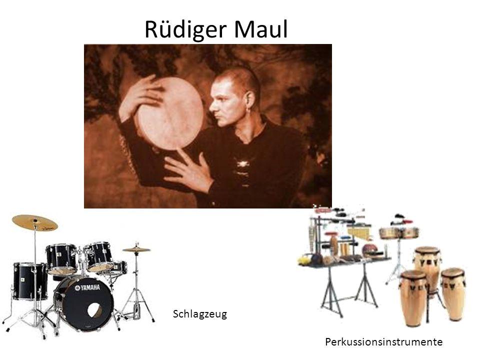 Rüdiger Maul Schlagzeug Perkussionsinstrumente