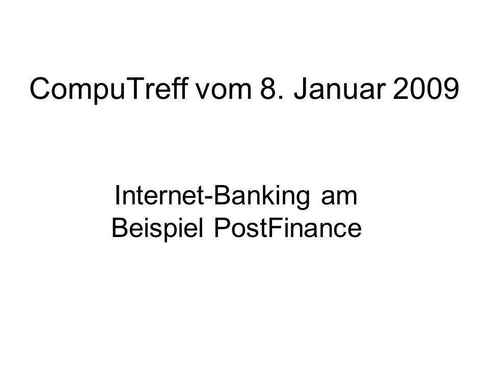 Internet-Banking am Beispiel PostFinance