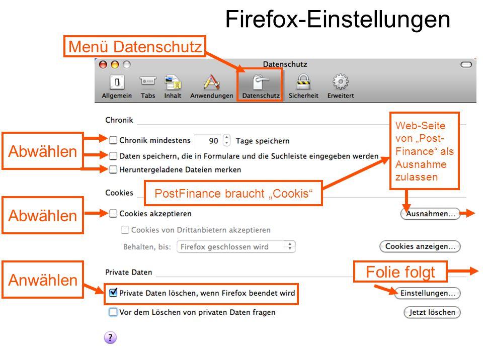 Firefox-Einstellungen