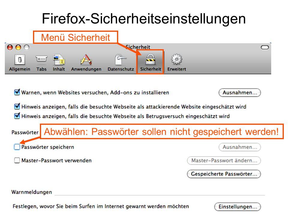 Firefox-Sicherheitseinstellungen