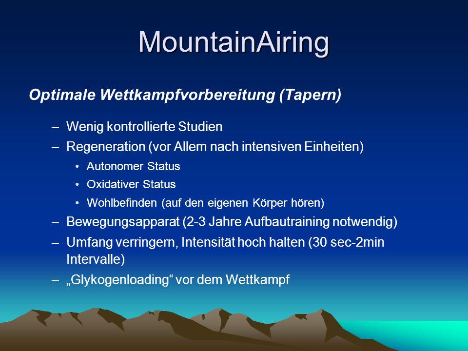 MountainAiring Optimale Wettkampfvorbereitung (Tapern)