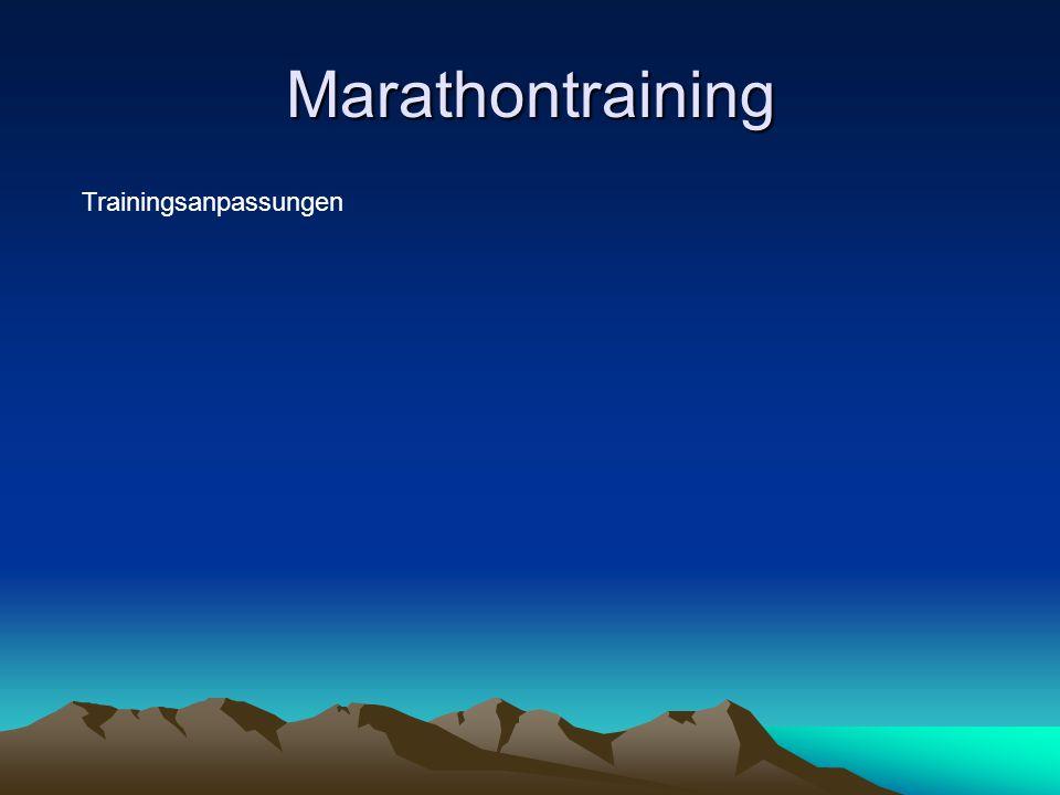 Marathontraining Trainingsanpassungen