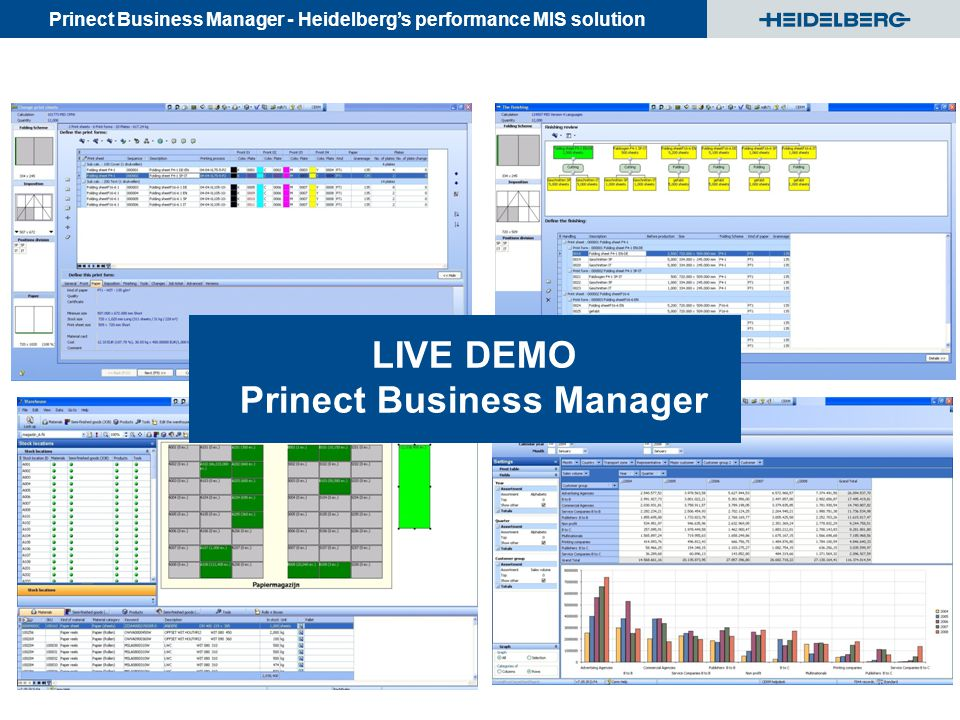 LIVE DEMO Prinect Business Manager