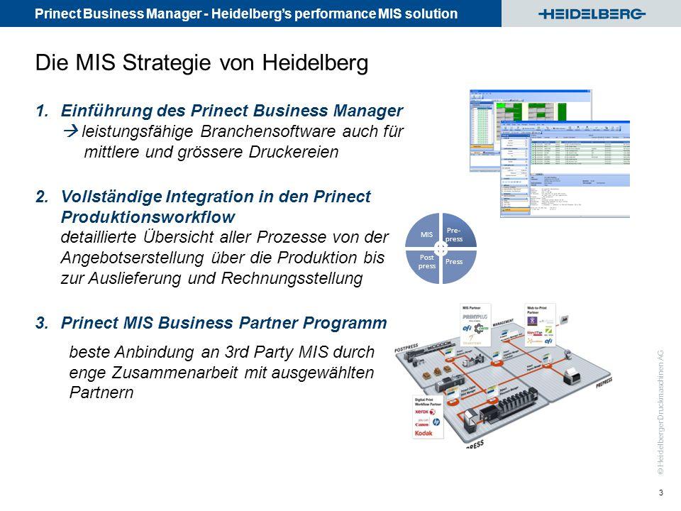 Die MIS Strategie von Heidelberg