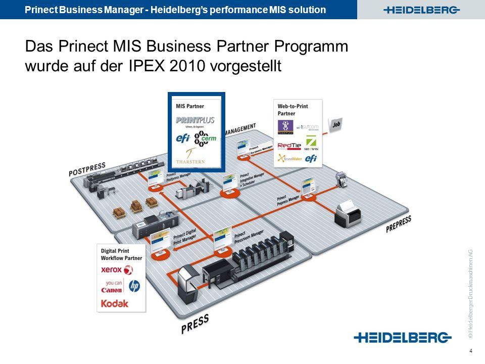 Das Prinect MIS Business Partner Programm wurde auf der IPEX 2010 vorgestellt