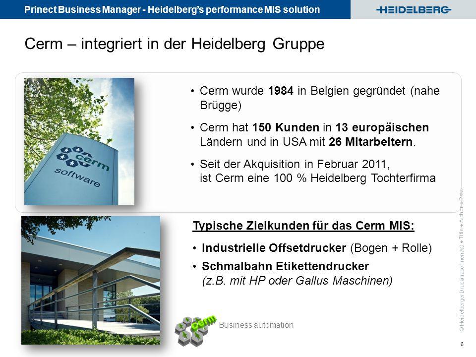 Cerm – integriert in der Heidelberg Gruppe