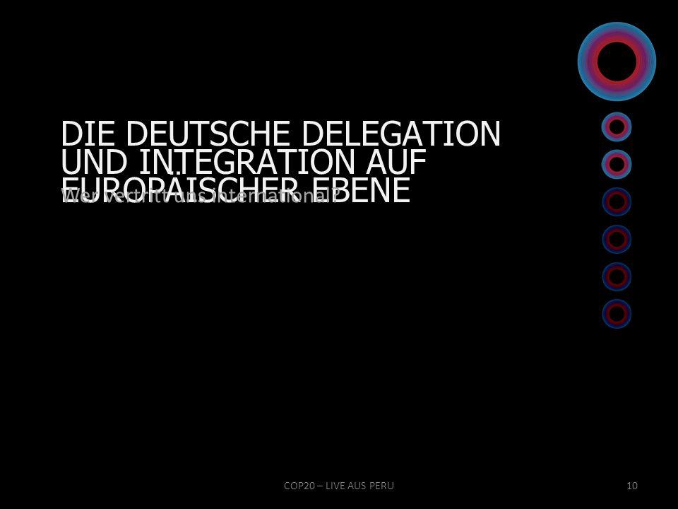 DIE DEUTSCHE DELEGATION UND INTEGRATION AUF EUROPÄISCHER EBENE