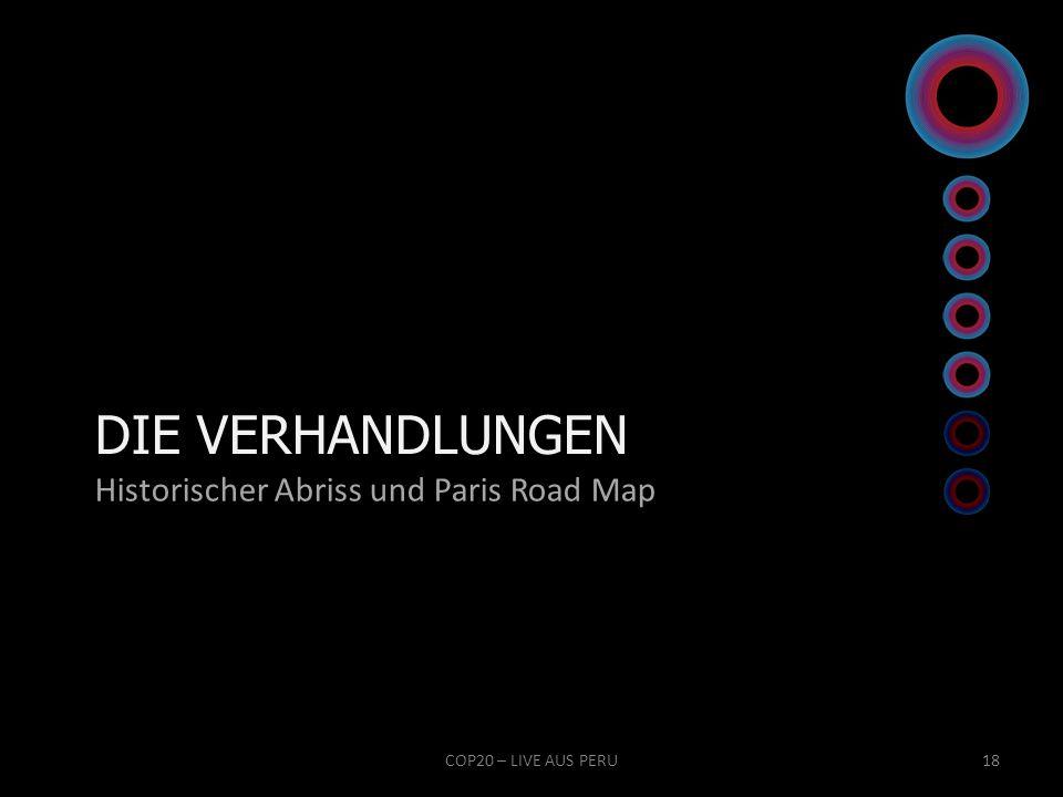 DIE VERHANDLUNGEN Historischer Abriss und Paris Road Map