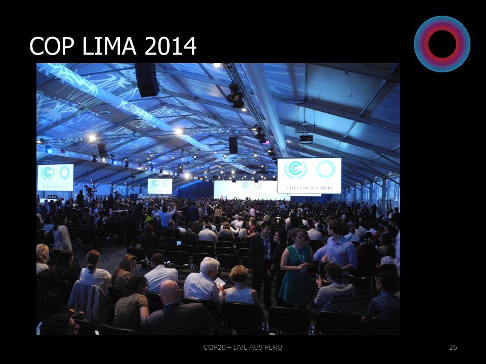 COP LIMA 2014 www.tagesspiegel.de COP20 – LIVE AUS PERU