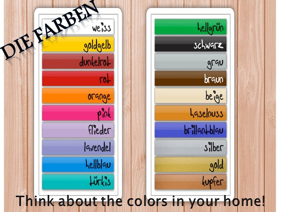 Think about the colors in your home!