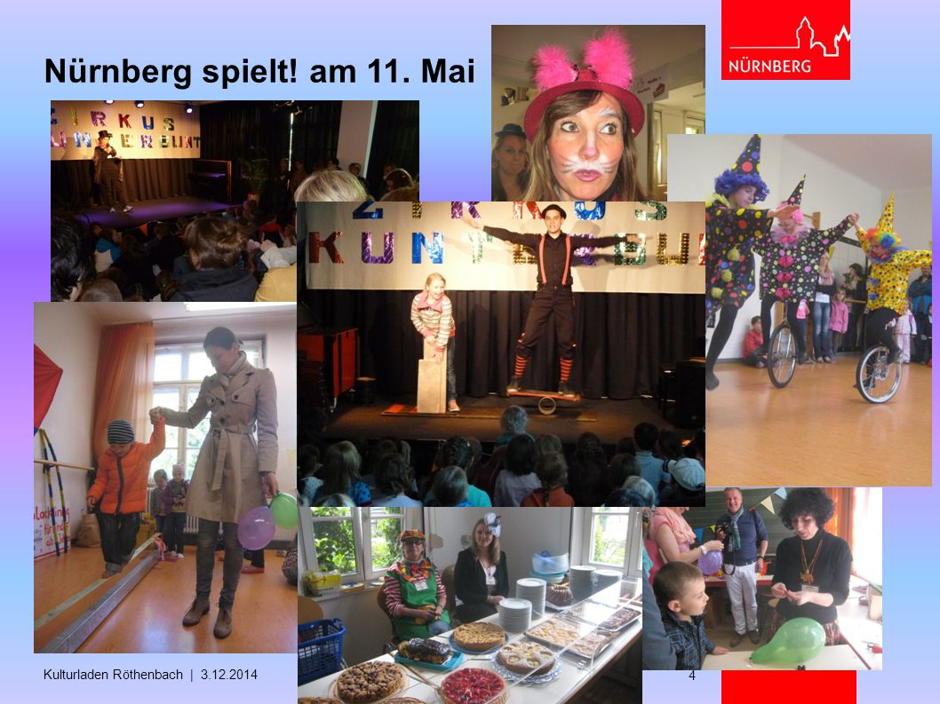 Nürnberg spielt! am 11. Mai Kulturladen Röthenbach | 3.12.2014