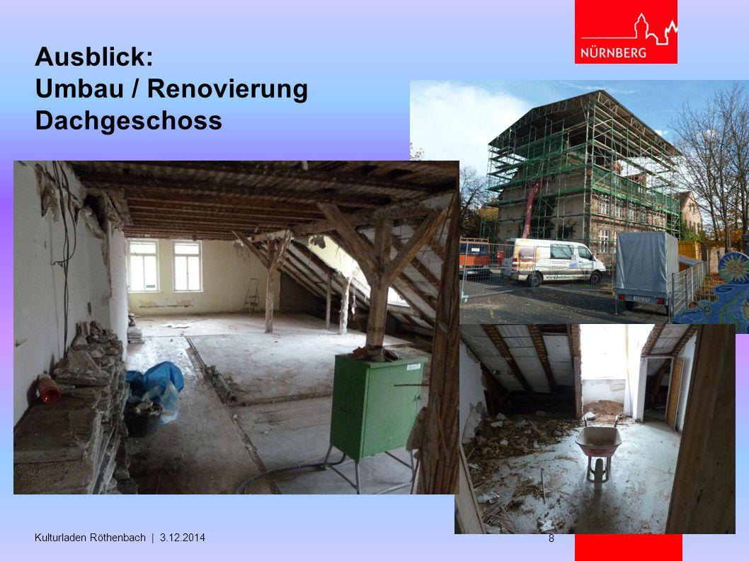 Ausblick: Umbau / Renovierung Dachgeschoss