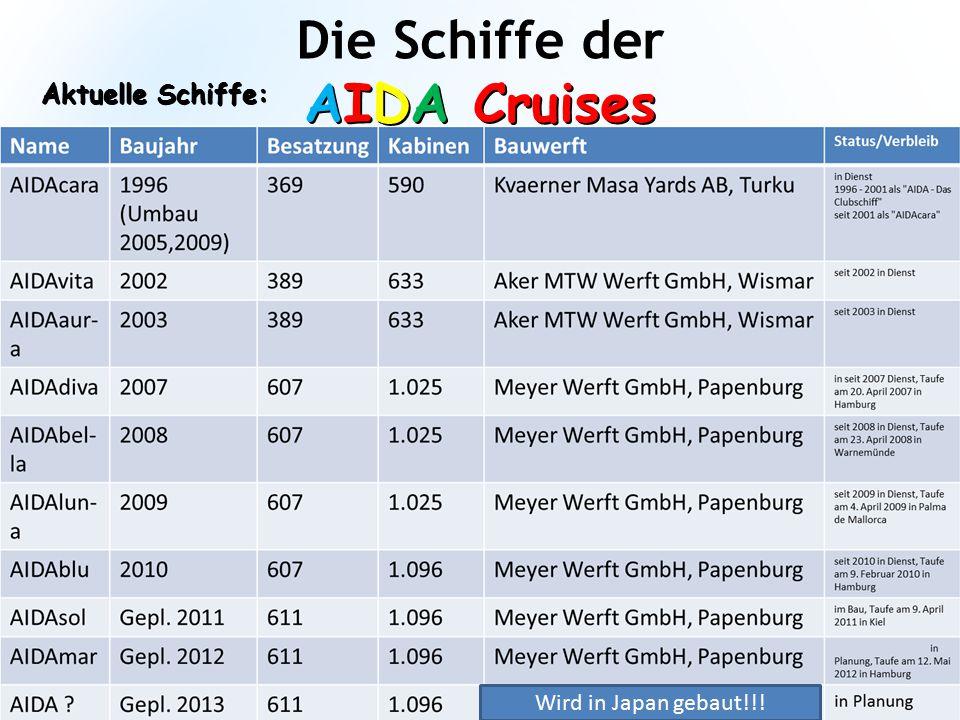 Die Schiffe der AIDA Cruises