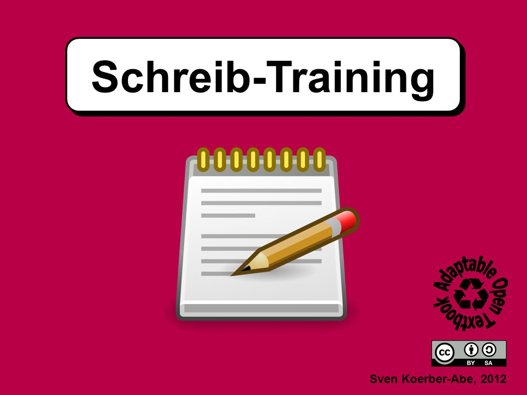Schreib-Training Sven Koerber-Abe, 2012
