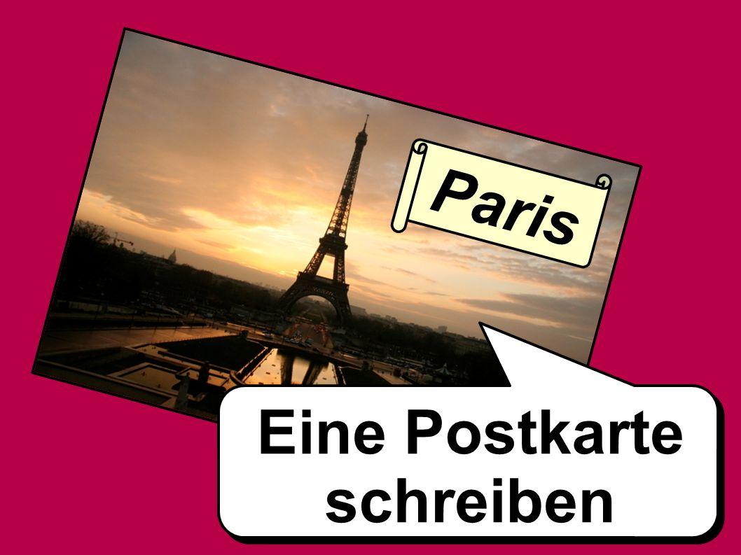 Paris Eine Postkarte schreiben