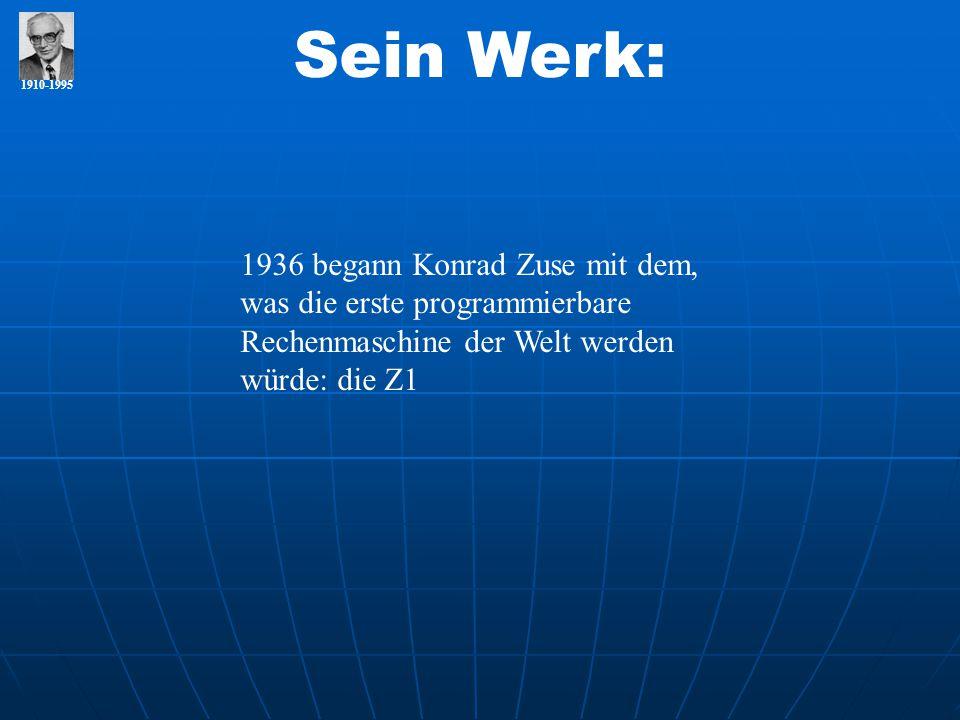 Sein Werk: 1910-1995.