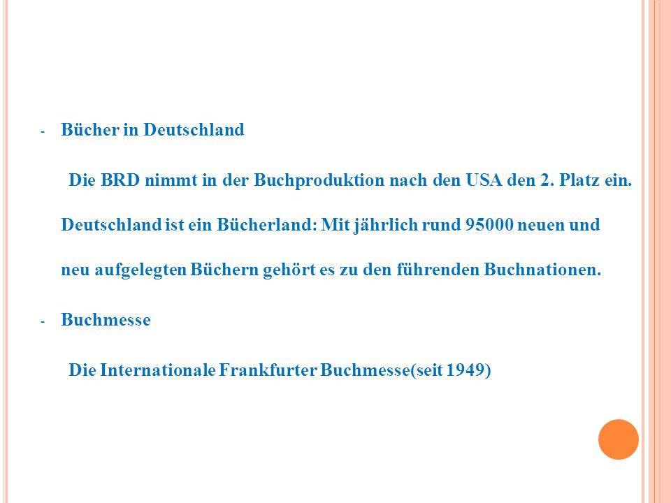 Bücher in Deutschland