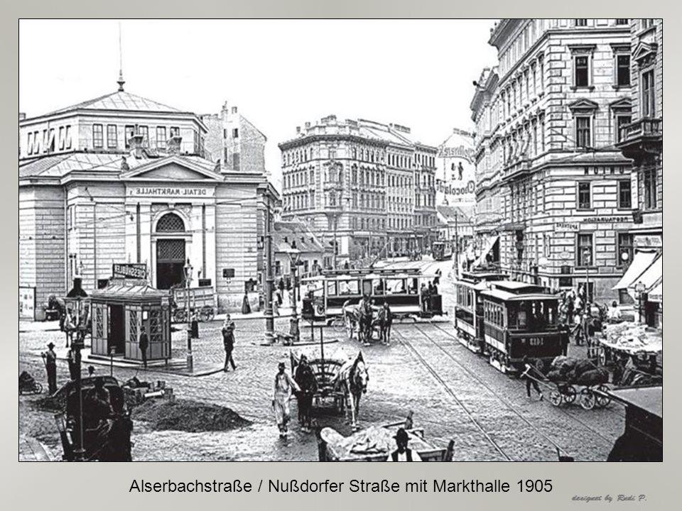 Alserbachstraße / Nußdorfer Straße mit Markthalle 1905