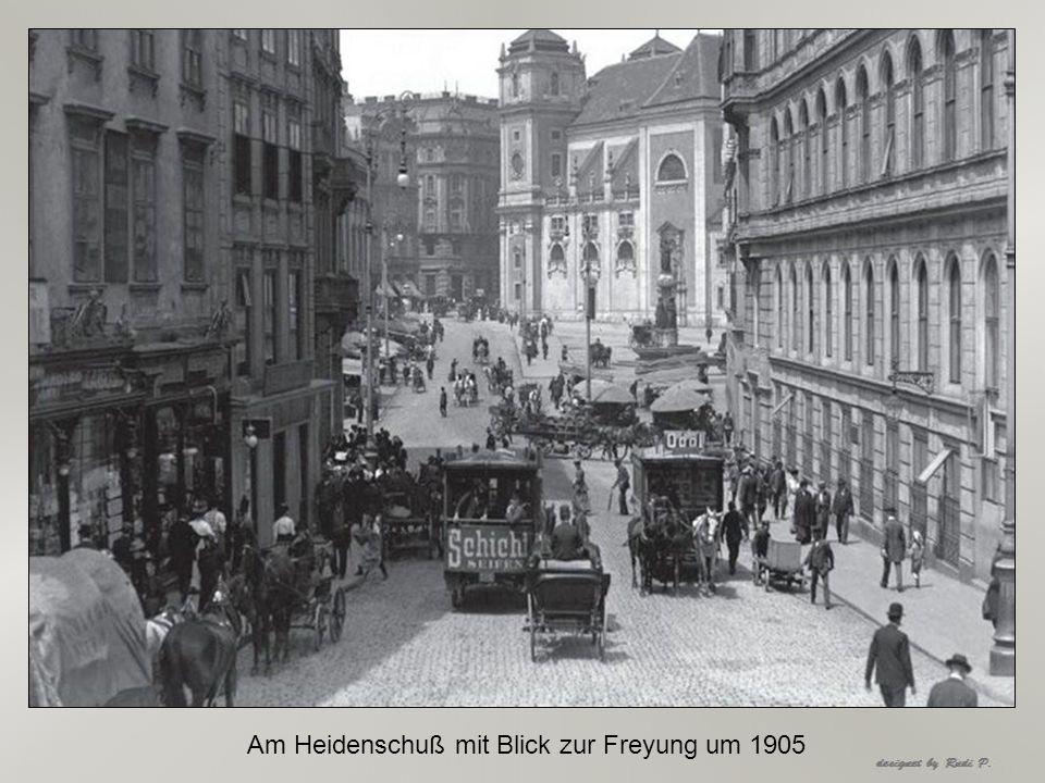 Am Heidenschuß mit Blick zur Freyung um 1905