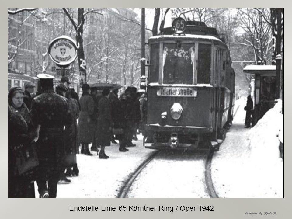 Endstelle Linie 65 Kärntner Ring / Oper 1942