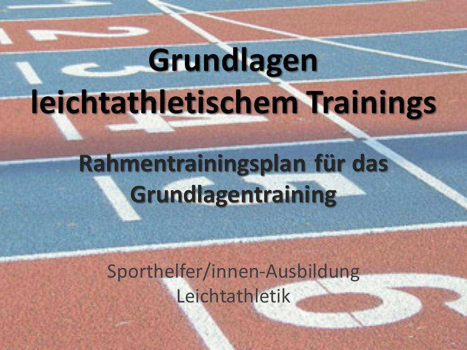 Grundlagen leichtathletischem Trainings