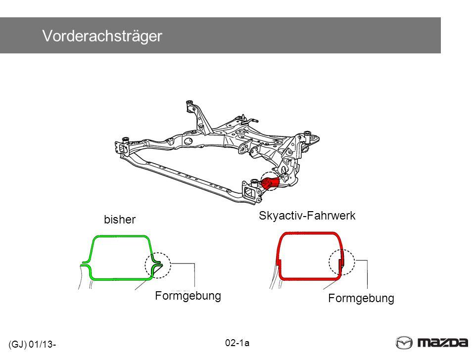 Vorderachsträger Skyactiv-Fahrwerk bisher Formgebung Formgebung