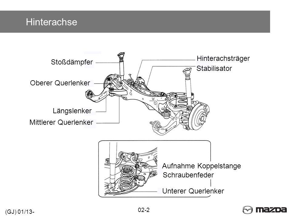 Hinterachse Hinterachsträger Stoßdämpfer Stabilisator