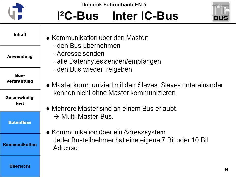 ● Kommunikation über den Master: - den Bus übernehmen