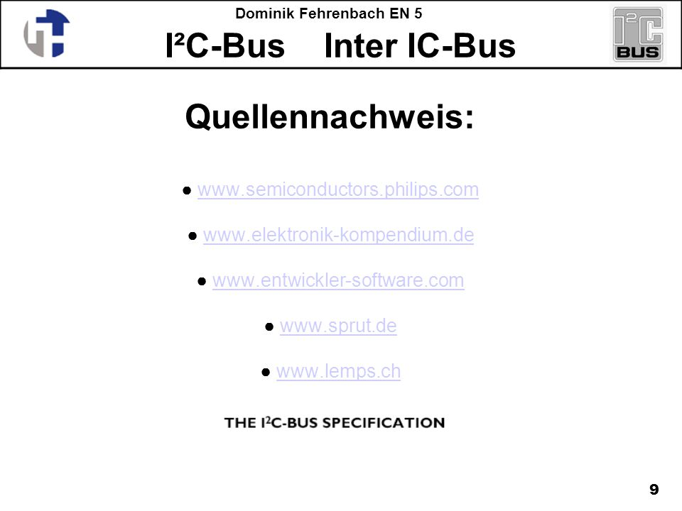 Quellennachweis: ● www.semiconductors.philips.com