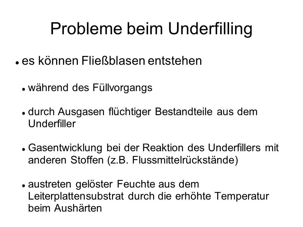 Probleme beim Underfilling