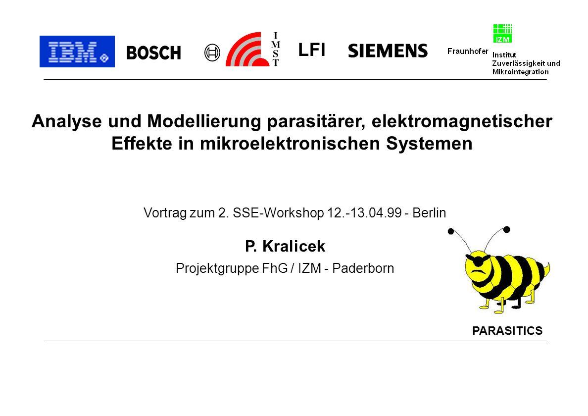 LFI Analyse und Modellierung parasitärer, elektromagnetischer Effekte in mikroelektronischen Systemen.