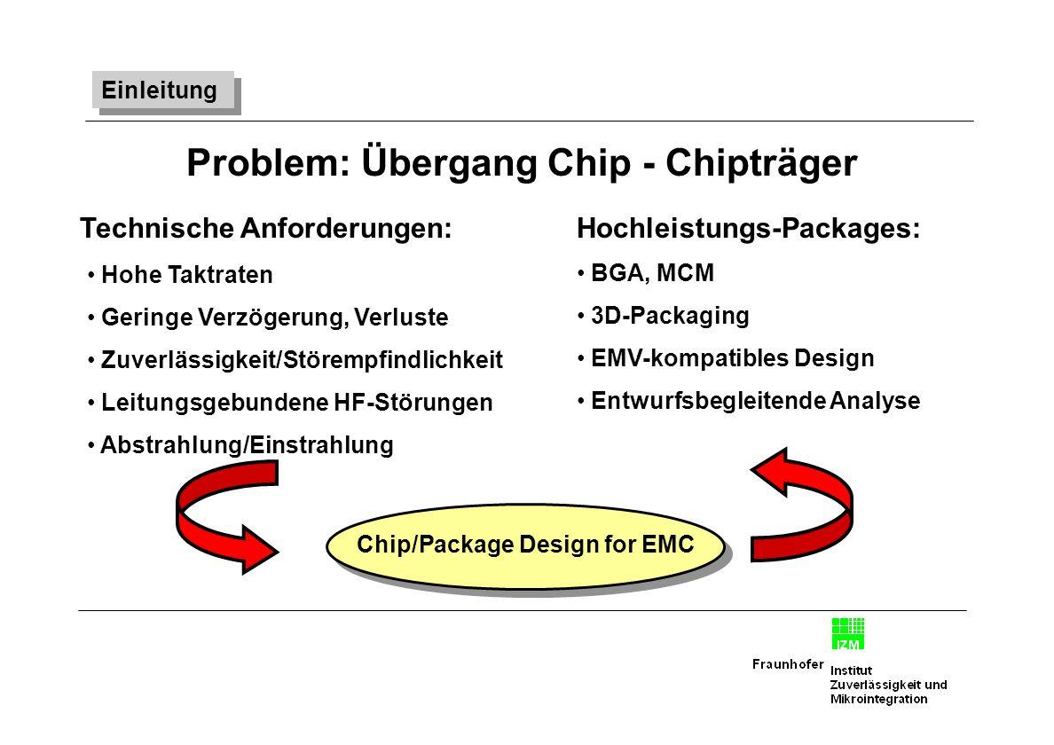 Problem: Übergang Chip - Chipträger