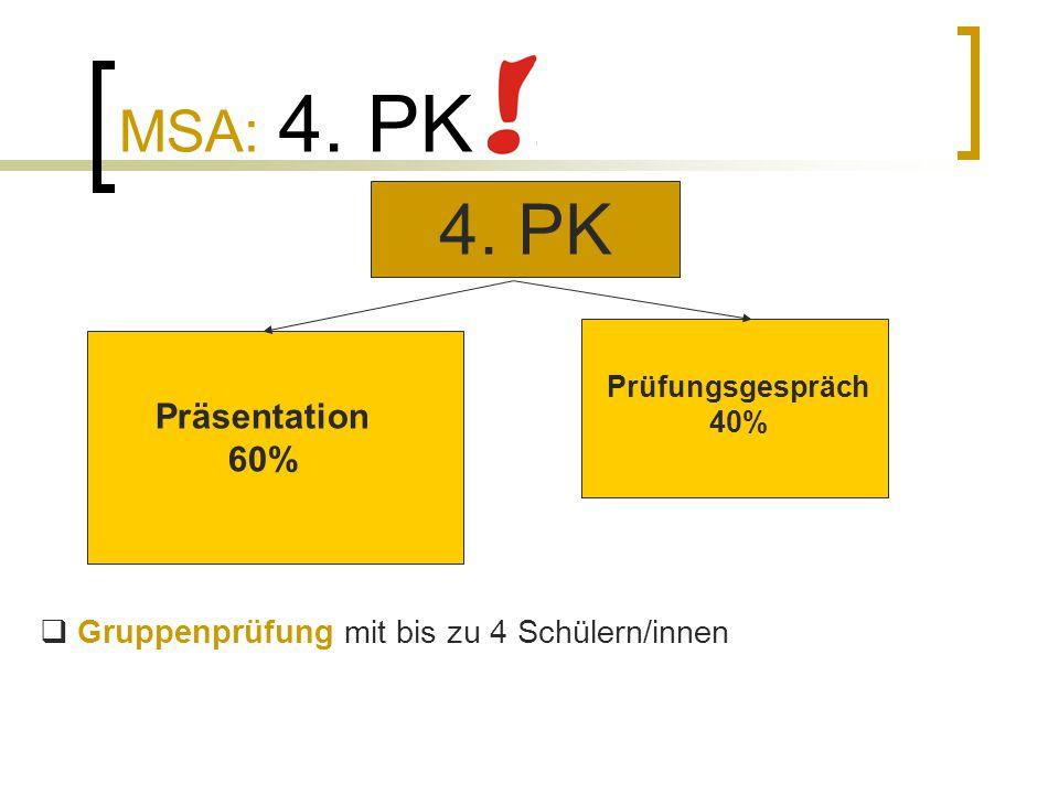 4. PK MSA: 4. PK Präsentation 60%