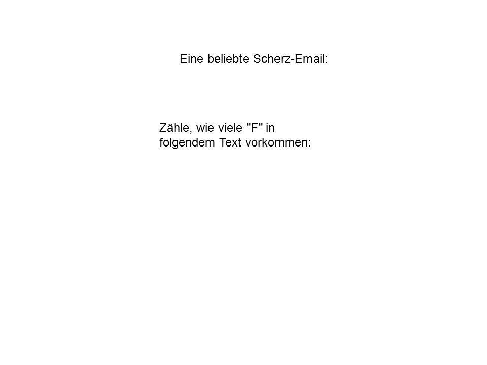 Eine beliebte Scherz-Email: