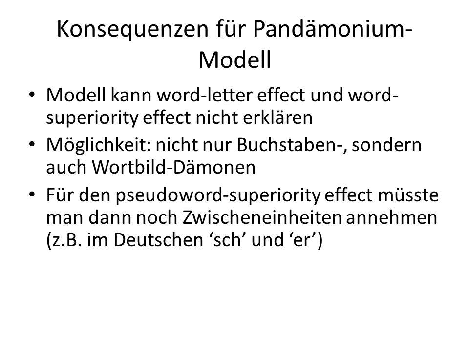 Konsequenzen für Pandämonium-Modell