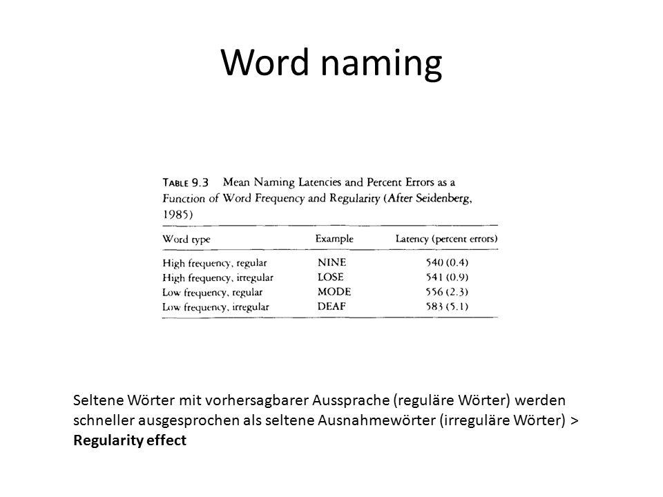 Word naming