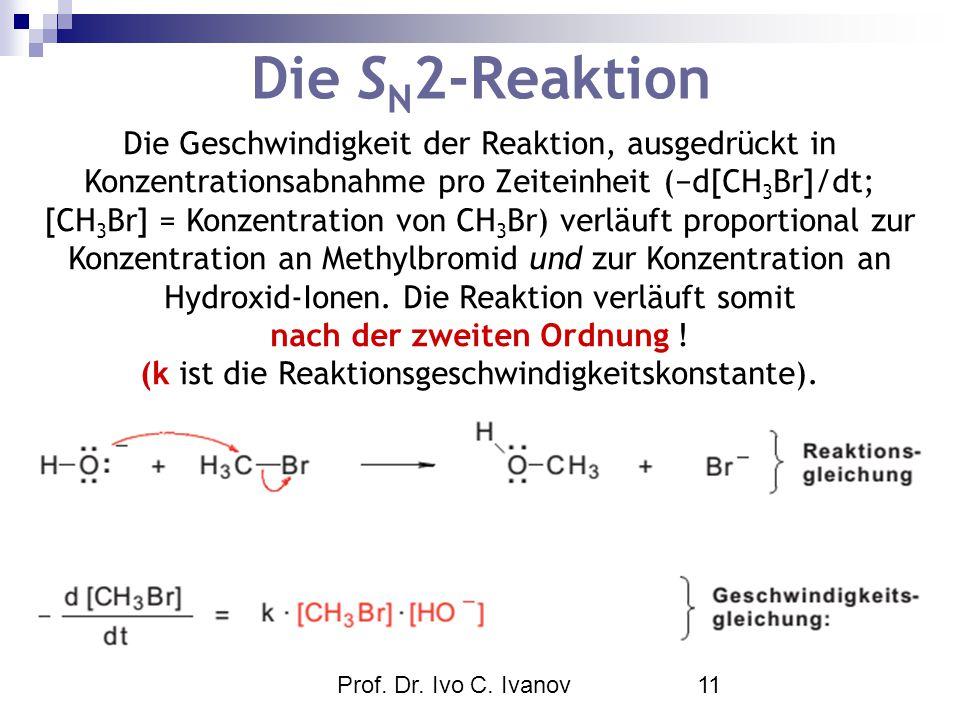 (k ist die Reaktionsgeschwindigkeitskonstante).