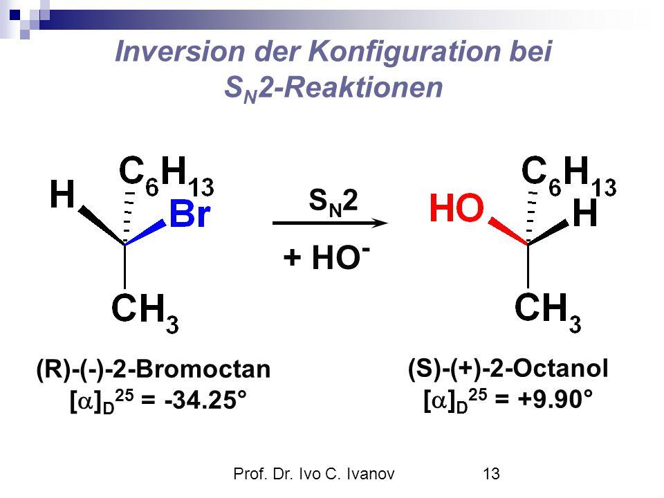 Inversion der Konfiguration bei SN2-Reaktionen
