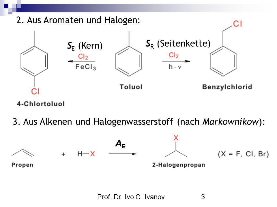 2. Aus Aromaten und Halogen: