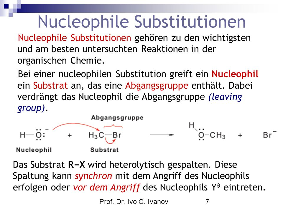 Nucleophile Substitutionen