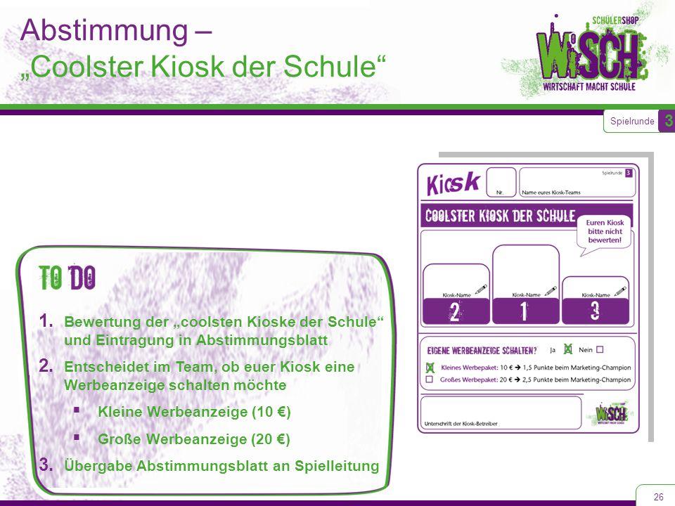 """Abstimmung – """"Coolster Kiosk der Schule"""