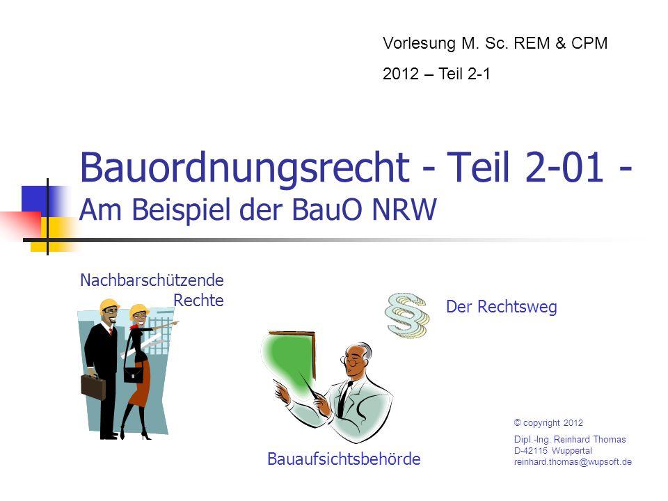 Bauordnungsrecht - Teil 2-01 - Am Beispiel der BauO NRW