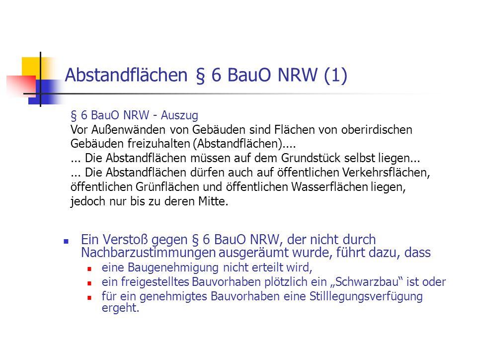 Abstandflächen § 6 BauO NRW (1)