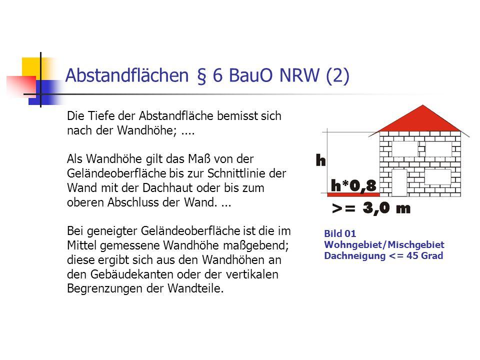 Abstandflächen § 6 BauO NRW (2)