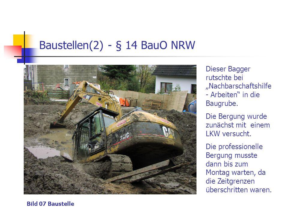 Baustellen(2) - § 14 BauO NRW