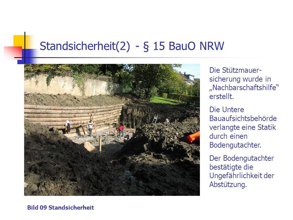 Standsicherheit(2) - § 15 BauO NRW