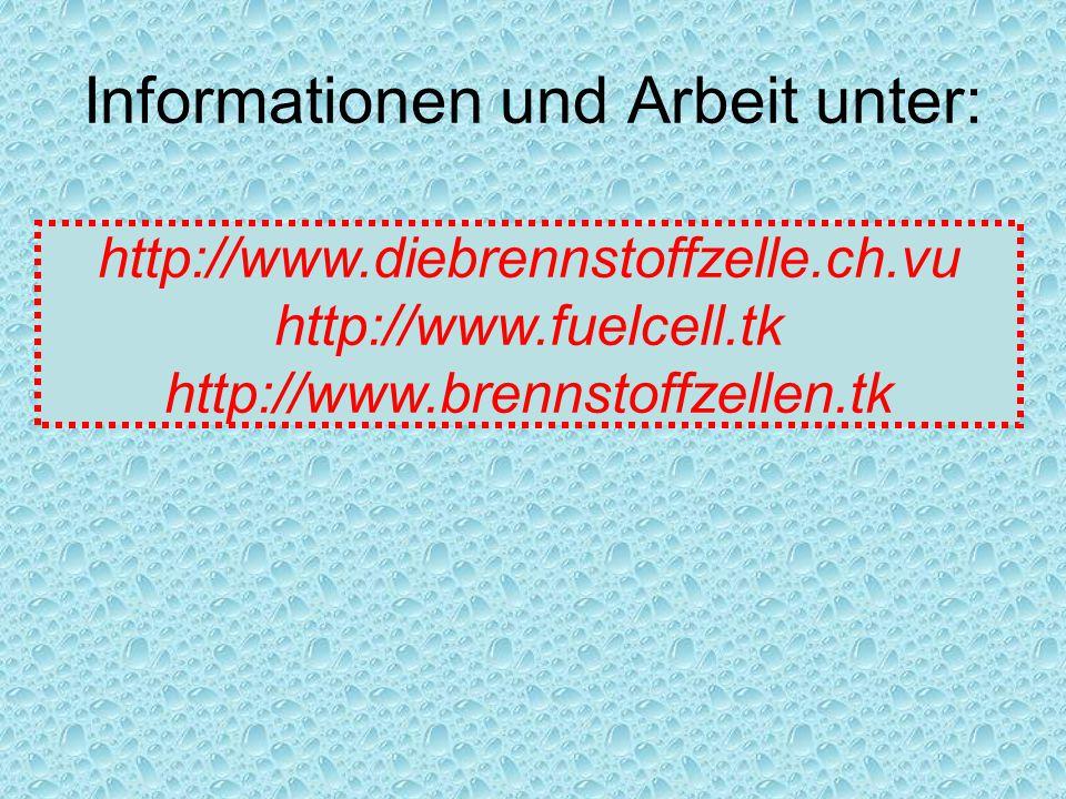 Informationen und Arbeit unter: